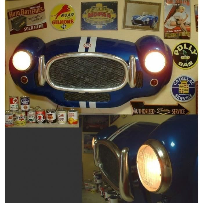 Face avant ac cobra 3d bleu deco murale bar diner loft usa for Decoration murale usa