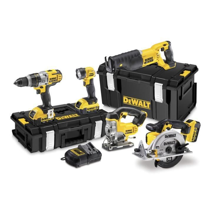 dewalt dck592m3 scie circulaire sabre sauteuse perceuse visseuse 18v achat vente pack de. Black Bedroom Furniture Sets. Home Design Ideas