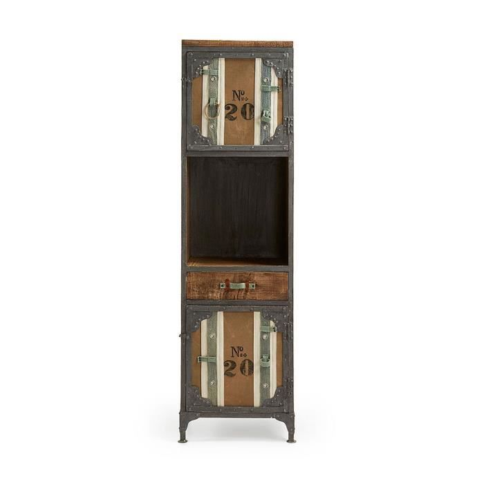 Etag re industrielle bois et m tal denime coule achat vente etag re mu - Etagere industrielle bois metal ...