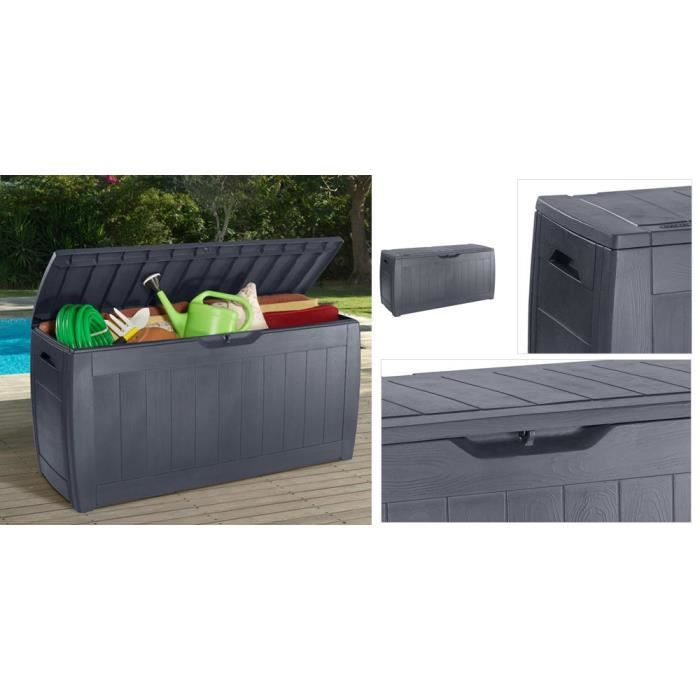 Coffre de jardin hollywood 270l keter achat vente for Grand coffre de jardin