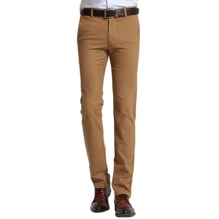 Hommes Chino Pant Pantalon Costume Tissu Business Pantalon slim fit