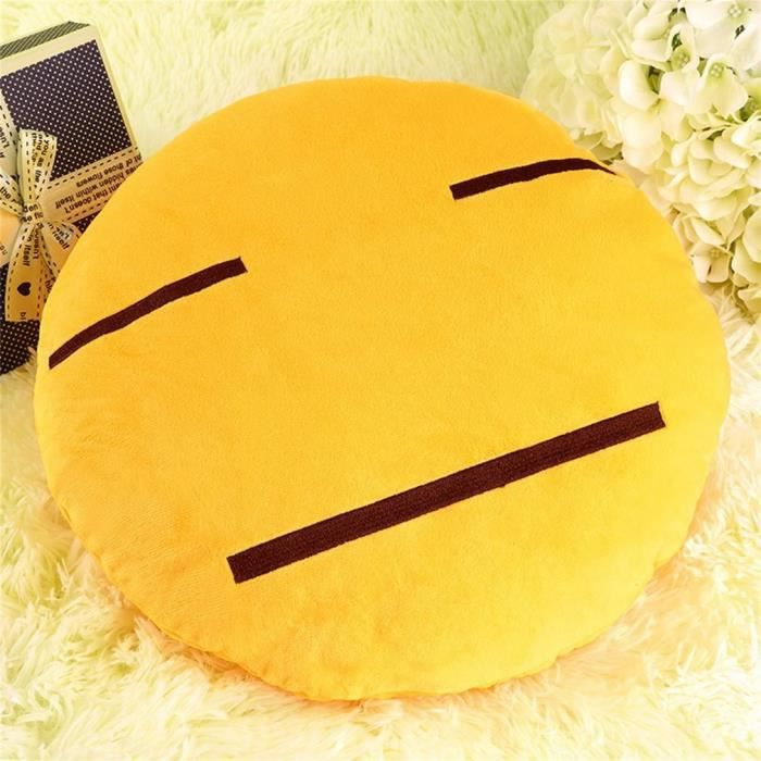 COUSSIN Coussin emoji doux emoticon mignon oreiller en pel