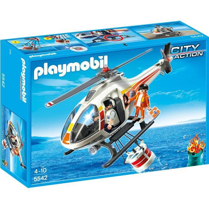 Playmobil 5542 h licopt re bombardier d 39 eau achat for Helicoptero playmobil