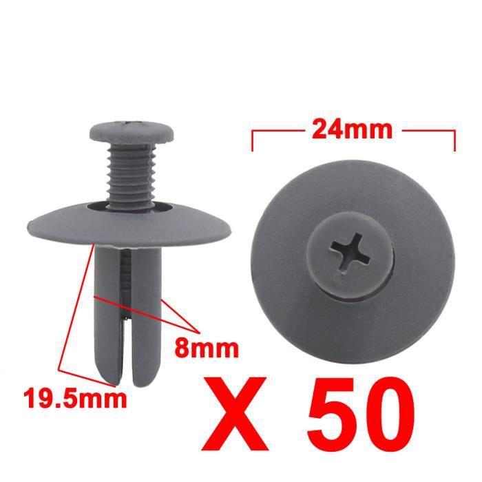 sourcing map 20pcs 8mm Trou retenue boue aile rivet fixation Clips Push pour voiture