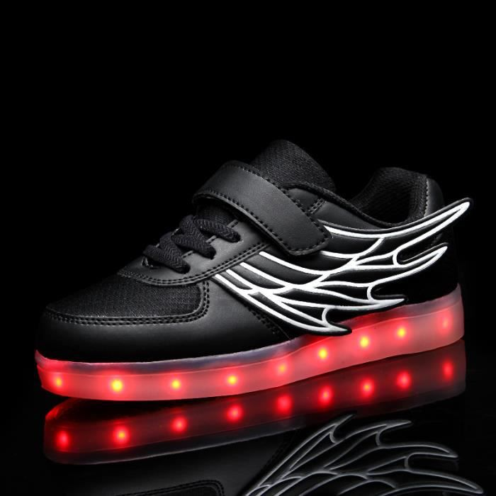 Korean Mode chaud chaussures 7 Couleu Enfants USB Charge LED Lumineux Chaussures de Sports Baskets Chaussures NSepE