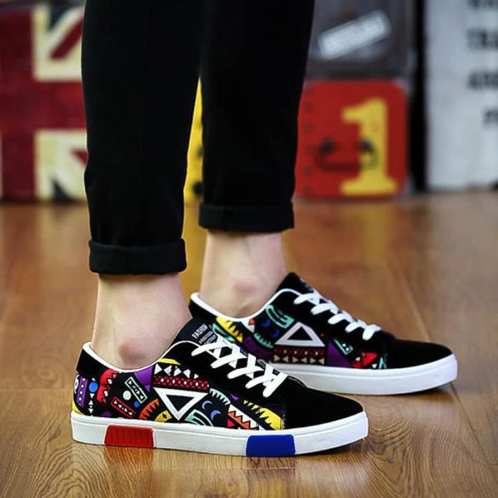 Dancing Canvas Graffiti Chaussures Baskets Graffiti Homme Rouge Baskets wSqptIx