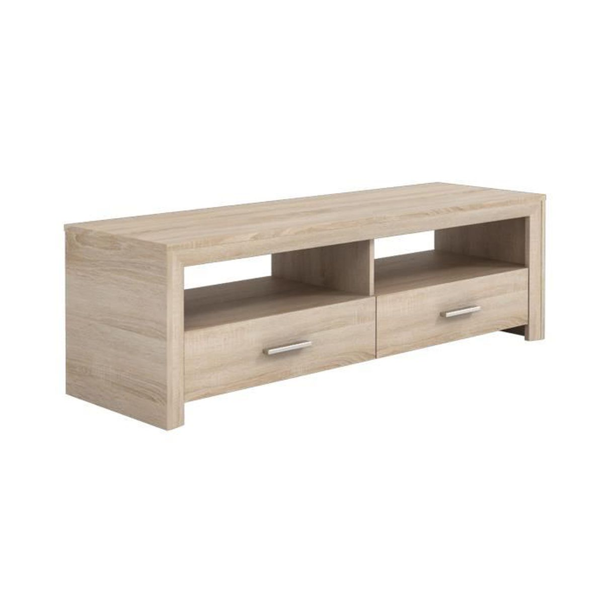 banc t l coloris ch ne bross achat vente meuble tv. Black Bedroom Furniture Sets. Home Design Ideas