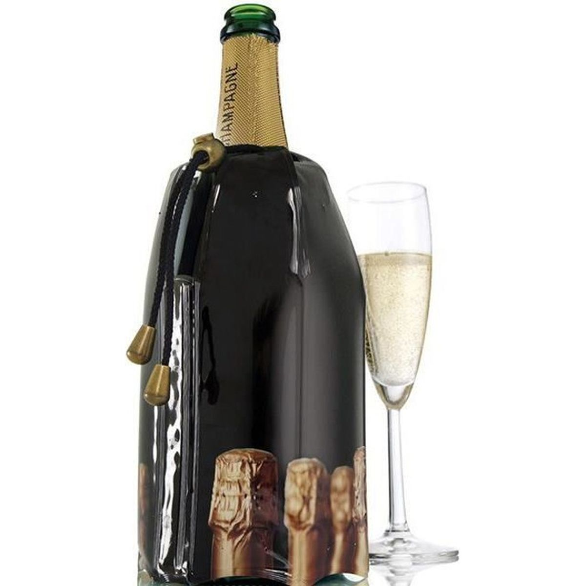 VACU VIN RAPID ICE refroidisseur de vin élégant-Rouge