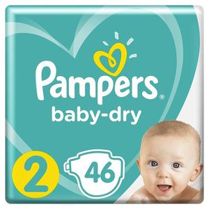 COUCHE Pampers Baby Dry couches - Taille 2 (4-8 kg) - 46