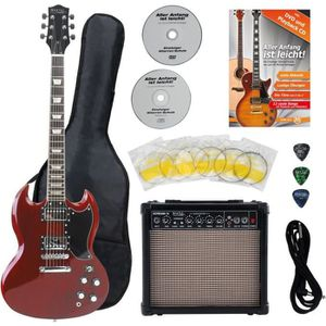 GUITARE Rocktile Pro S-Red Guitare Electrique Heritage Sta