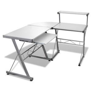 BUREAU  Grande table de bureau blanche pour ordinateur