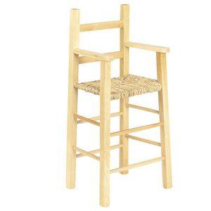 CHAISE HAUTE  Chaise haute pour enfant en hêtre naturel verni…