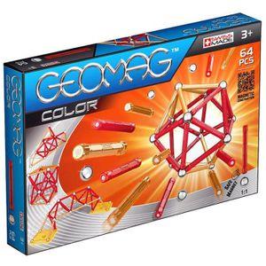 ASSEMBLAGE CONSTRUCTION Geomag - 253 - Color - Jeu de Construction - 64 Pi