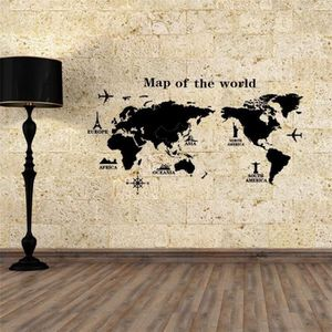 stickers muraux carte du monde achat vente stickers muraux carte du monde pas cher soldes. Black Bedroom Furniture Sets. Home Design Ideas