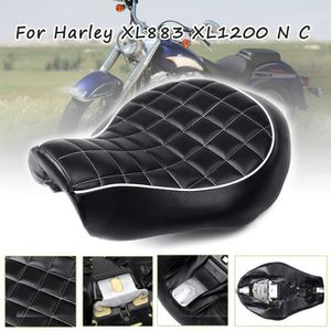 Keenso Si/ège de Selle Universel Si/ège de Moto R/étro Selle Classique Cafe Racer Seat Saddle Black Si/ège de Moto Hump Brat