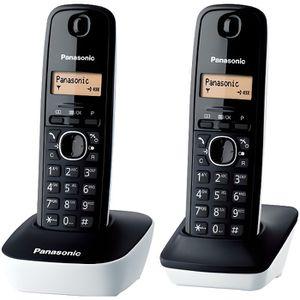 Téléphone fixe Panasonic KX-TG1612FRW Duo Téléphone Sans Fil DECT