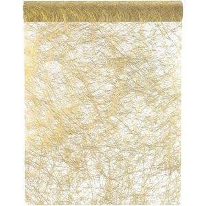 CHEMIN DE TABLE JETABLE Chemin de table fanon or 30cm x 25m (x1) REF/4755
