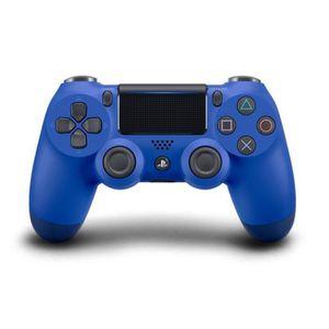 MANETTE JEUX VIDÉO Manette DualShock Bleue PS4 V2+2 boutons+1 led lig
