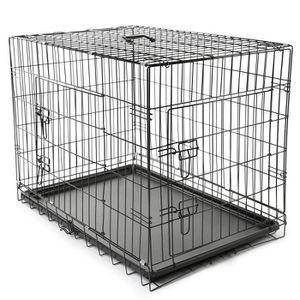 CAISSE DE TRANSPORT TRESKO Cage de transport pliable pour Chiens XL 90