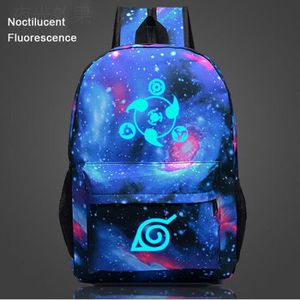 CARTABLE Naruto The Sharingan-Sac à dos Noctilucent Fluores