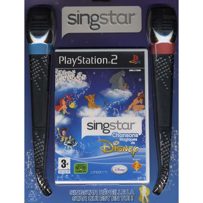 SINGSTAR DISNEY + MICROS / JEU CONSOLE PS2
