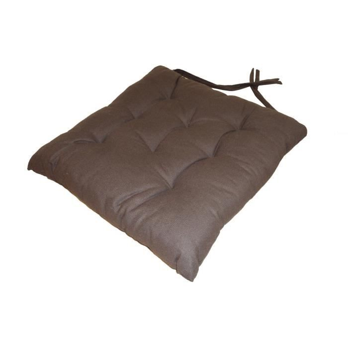 galette de chaise 8pts 40x40x4 cm chocolat achat vente coussin de chaise cdiscount. Black Bedroom Furniture Sets. Home Design Ideas