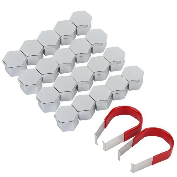 20Pcs Cache ecrou protection 17MM vis boulon Roue jante anti-vol durable+2x outil demontage