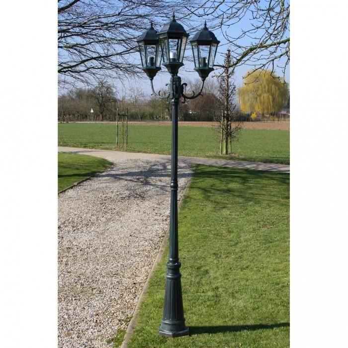 Eclairage paysager Lampadaire exterieur triple 230 cm
