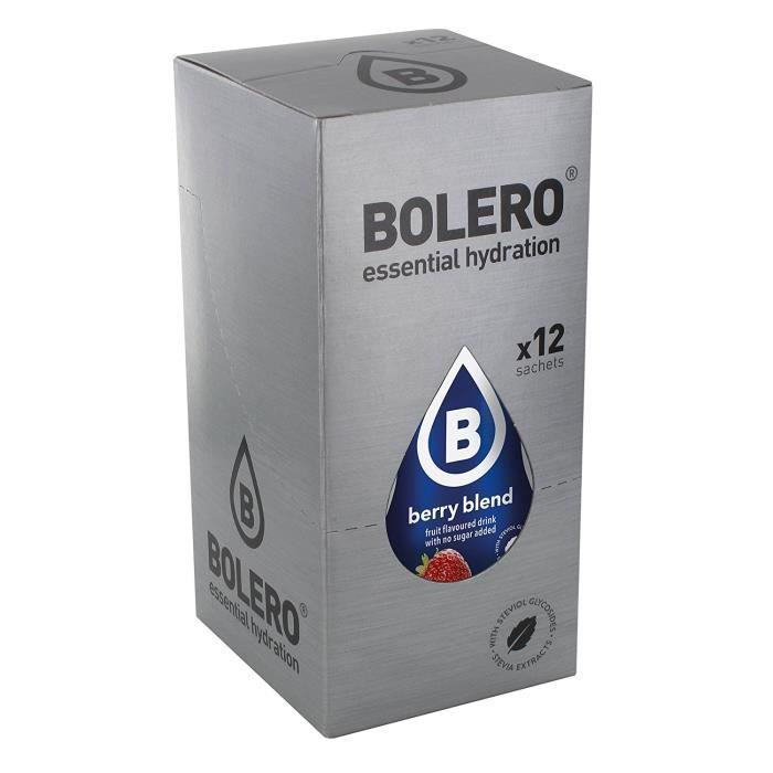 12 x Bolero Powdered Drinks Classic 9 g sachet Fruits Sauvages: Hygiène et Soins du corps