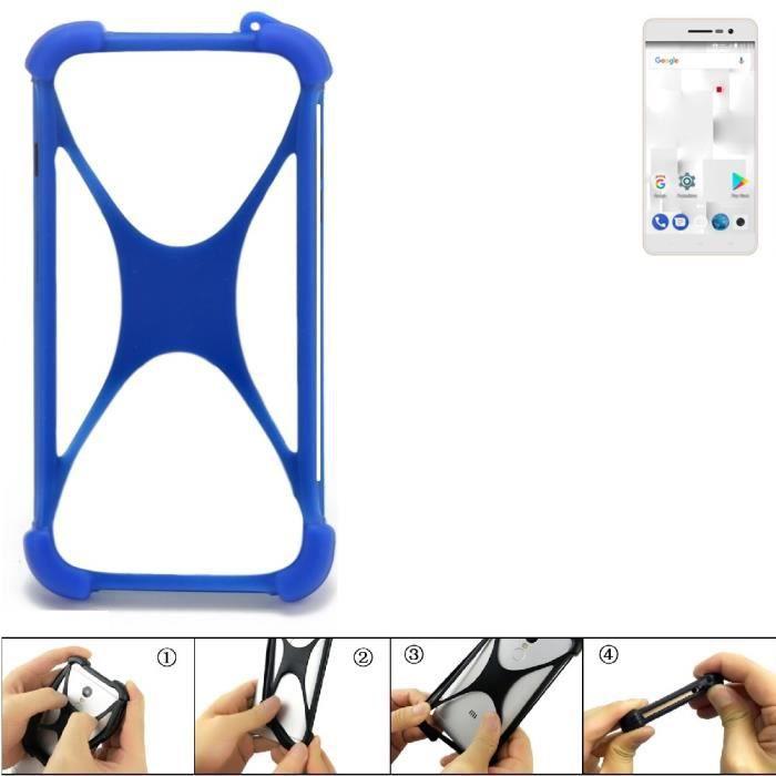 Pare-chocs pour téléphone portable compatible avec thomson Delight TH201 Silicone Bumper protection Housse TPU Softcase Protector