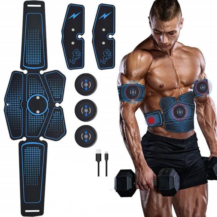 Nouveau USB charge EMS ceinture abdominale Stimulation électrique ABS Muscle formateur hanche Toner - Modèle: WHITE -
