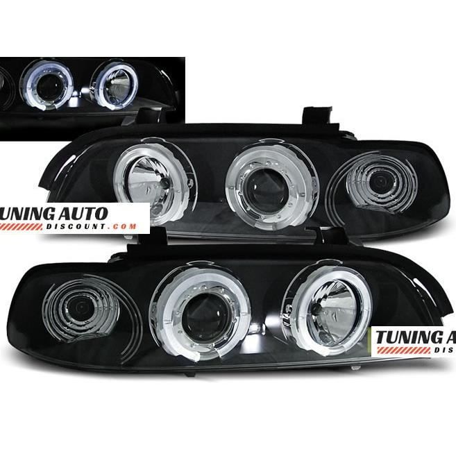 Phares avant BMW e39, 09.95-06.03 angel eyes noir ( 26952 )