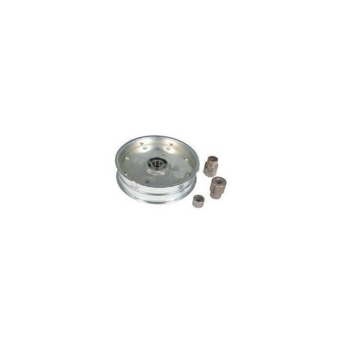Poulie à gorge plate adaptable pour SCAG modèles 32-, 36-, 48-, 52- et 61- - H: 30,16mm, Ø ext: 131,76mm, Ø int: 9,52mm