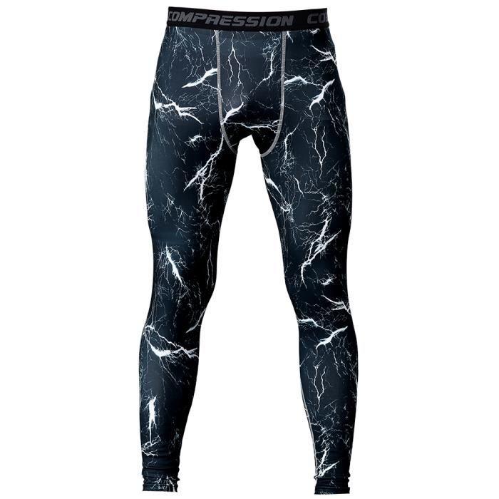 Fitibest Pantalons de compression pour hommes Jambières de compression à séchage rapide Maillots de sport, Bleu