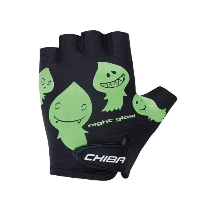 Chiba Cool Gants pour Enfants pour vélo Gants de cyclisme VTT Noir