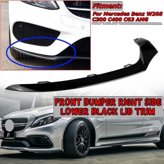 NEUFU Garniture Couvercle Pare-chocs Avant Droit Noir Pour Mercedes Benz W205 Classe C AMG