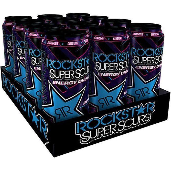 Rockstar Energy Drink Rockstar Super Sours Blue Raspberry 12 x 0,5l