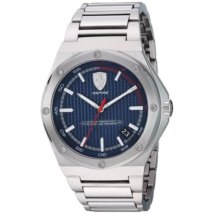 Scuderia Ferrari Hommes Analogique Quartz Montres bracelet avec bracelet en Acier Inoxydable - 830530 3660