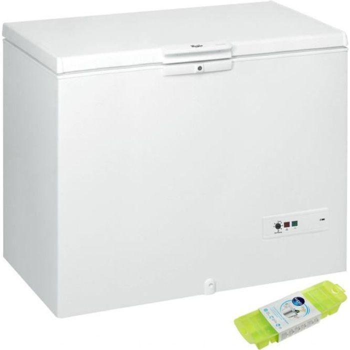WHIRLPOOL Congélateur coffre blanc 437L Autonomie 32h Congélation Eco 70 Blanc
