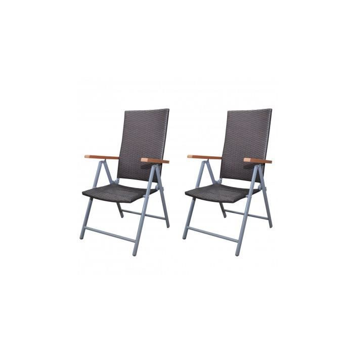 2 chaises en rotin marron pour table manger achat for Chaise pour table a manger