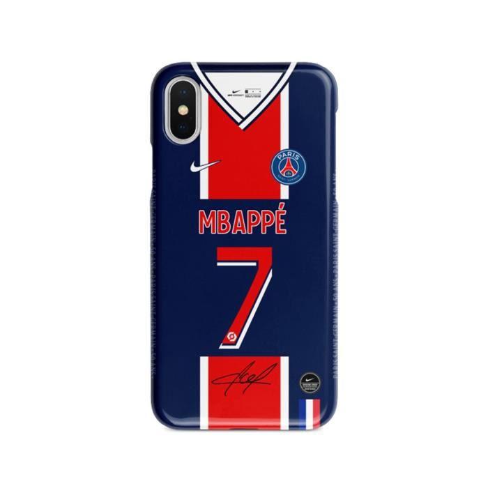 Coque iPhone SE 2020-8-7,20-21 Maillot Domicile Motif MBAPPE PSG Paris Paris Saint Premium Anti-Chocs Football Coque de Protection