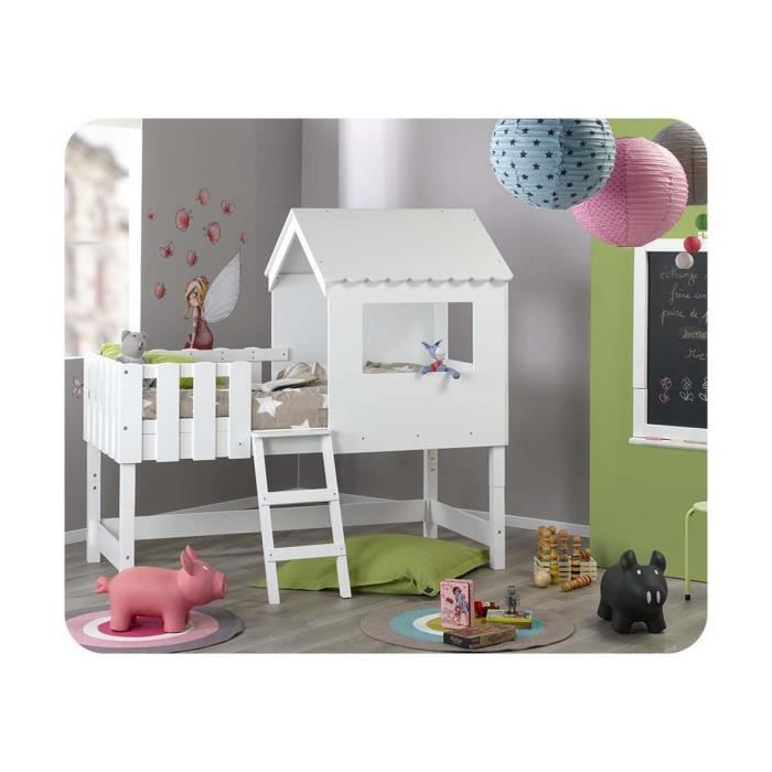 lit enfant cabane modulable swam blanc achat vente structure de lit lit enfant cabane. Black Bedroom Furniture Sets. Home Design Ideas