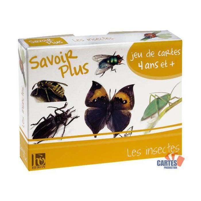 CARTES DE JEU Jeu des 7 familles : Les insectes - jeu de 42 cart