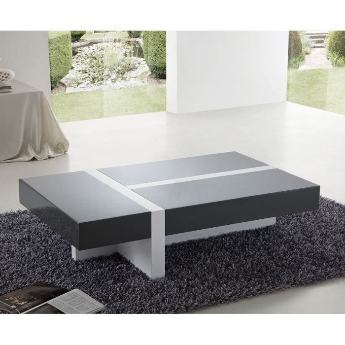 Table basse design rimona laqu e rectangulaire achat vente table basse - Table salon cdiscount ...