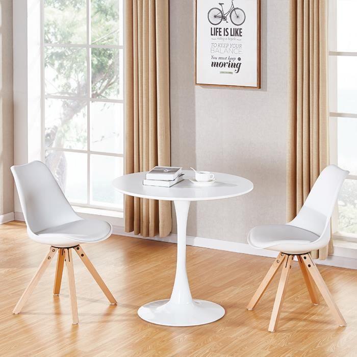 Table A Manger Ronde Design En Bois Abrezzo Achat Vente