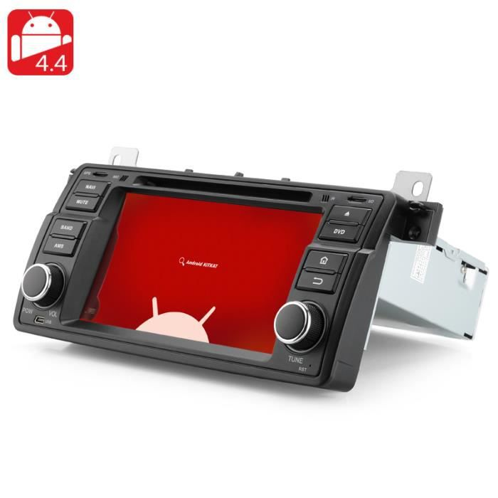 autoradio lecteur dvd 1 din android 4 4 pour bmw e46. Black Bedroom Furniture Sets. Home Design Ideas