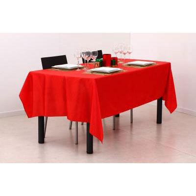 nappe rectangle rouge or achat vente d cors de table 100 polyester cdiscount. Black Bedroom Furniture Sets. Home Design Ideas