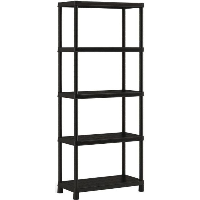 etagere plastique 5 tablettes plus achat vente etag re murale etagere plastique 5 tablett. Black Bedroom Furniture Sets. Home Design Ideas