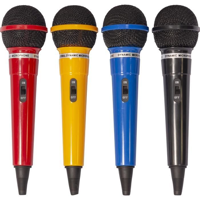 ltc dm400 assortiment de 4 microphones dynamiques couleur. Black Bedroom Furniture Sets. Home Design Ideas