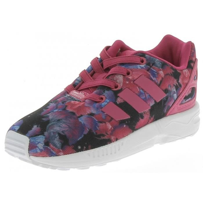 best loved 3b9eb 28b4b Adidas - Adidas Zx Flux El I Chaussures de Sport Petite Fille - (Violet -  25)